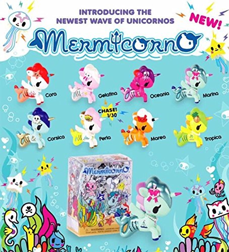 Tokidoki Mermicorno Collectible Vinyl Figure Pack Of 3