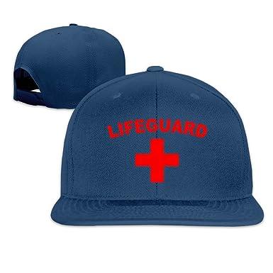 dd3bd236b14 Amazon.com  Life Guard And Lifeguard Logo Snapback Hats Flat Brim Baseball  Cap  Clothing