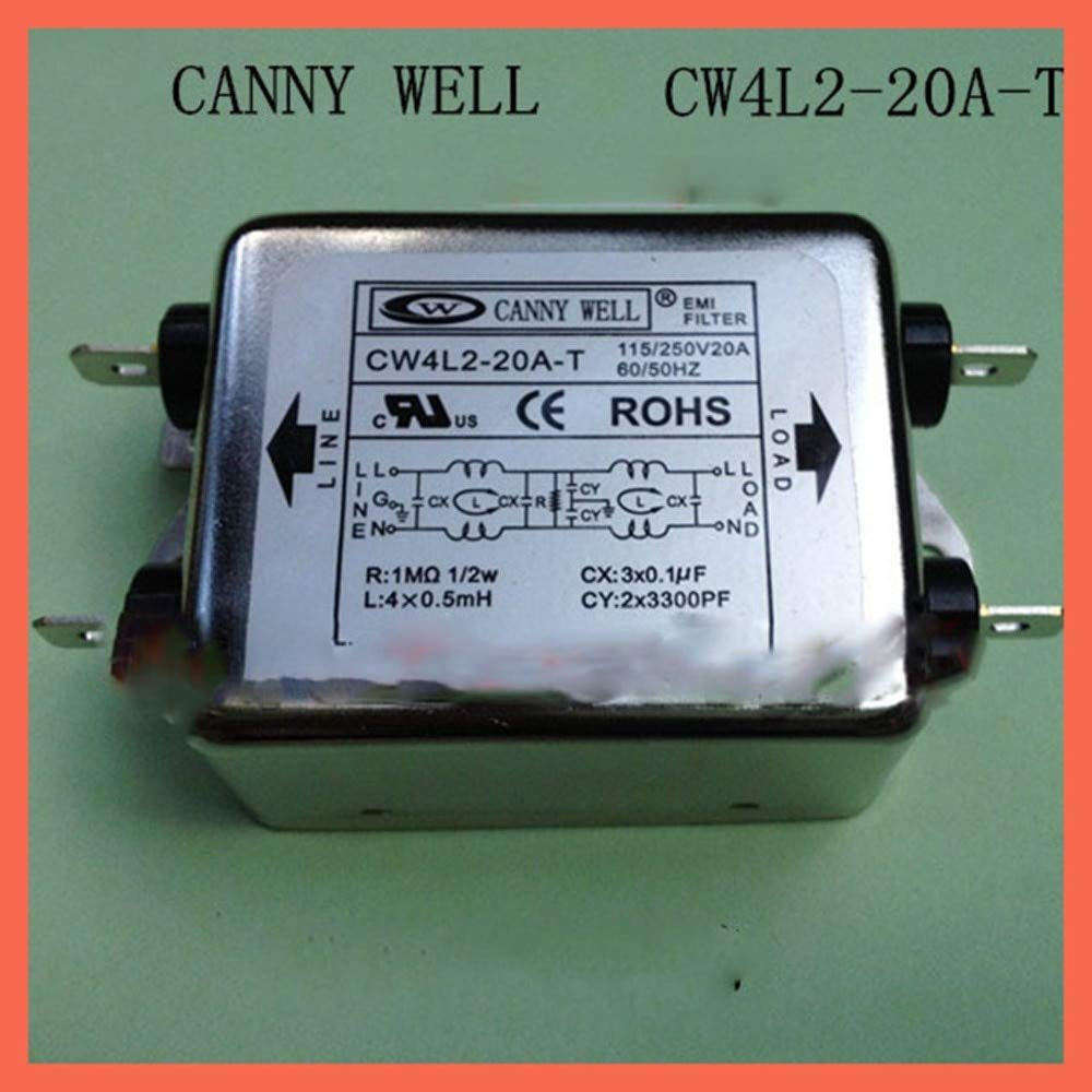 Fincos 110-250V,20A Canny Well Dual Power Supply EMI Filter Power Purifier cw4l2-20a-t EMI Filter Electronic Components Adapters