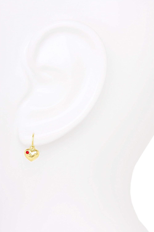 12/mm x 6/mm Mod/èle 07214 Pour enfant oucles doreille coeur MyGold communion Cadeau bapt/ême parrain Or jaune 333//585 avec pierres en oxyde de zirconium