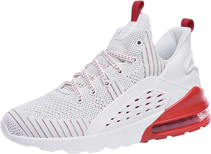 Zapatillas de Deporte para Hombre, Transpirables, para Correr, para Correr, para Entrenar, con Cordones, para Hacer Senderismo, Color Negro, Talla 43 EU: Amazon.es: Zapatos y complementos