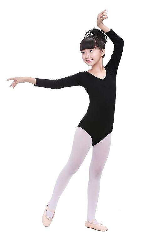 DoGeek- Maillot Ballet Niña Maillot Danza Niña Gimnasia Leotardos Ballet Gimnasia Danza Ropa Clásico Elástico de Ballet de Algodón para Niña