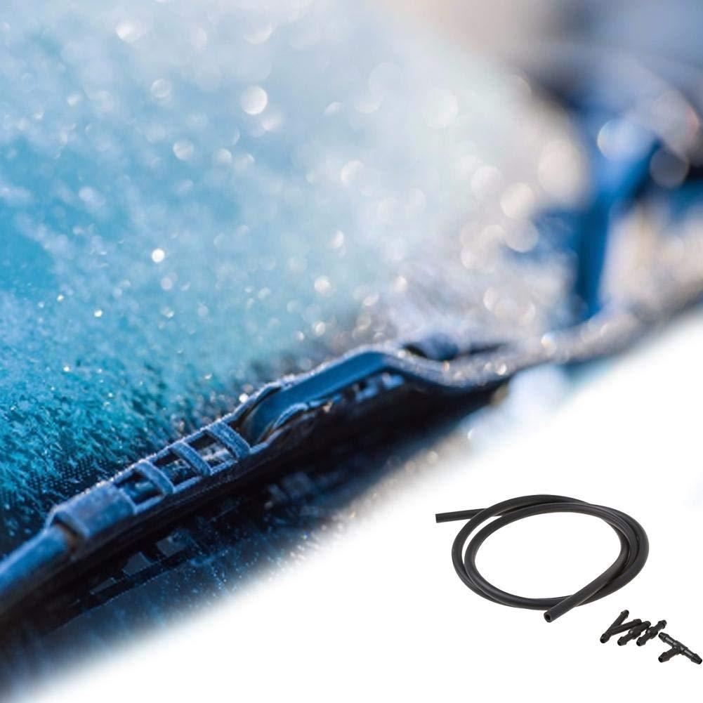 bulrusely Windschutzscheibe Waschmaschine Spray D/üse Kit Windschutzscheibe Auto Wasserwischer D/üse Nebelreiniger Spray Jet Auto Scheibenwischer D/üse Zerst/äuber Spray Schlauch D/üse Stecker 5 Latest