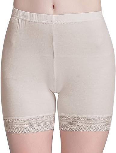 Vinconie Bragas Pantalon Mujer Boxer Encaje Short Leggings Cortos ...