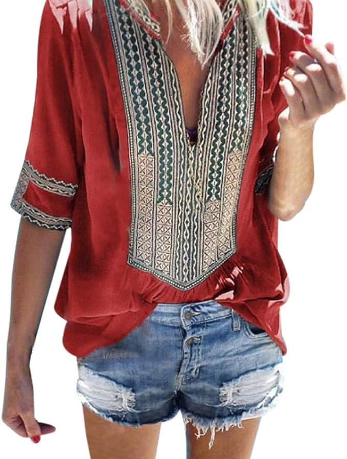 Costura Color de ContrasteTops Mujer Ronamick Lunares O Cuello Camisetas Mujer Manga Larga Blusa Mujer Lunares O Cuello Camisa Mujer(rojo,XXL): Amazon.es: Iluminación