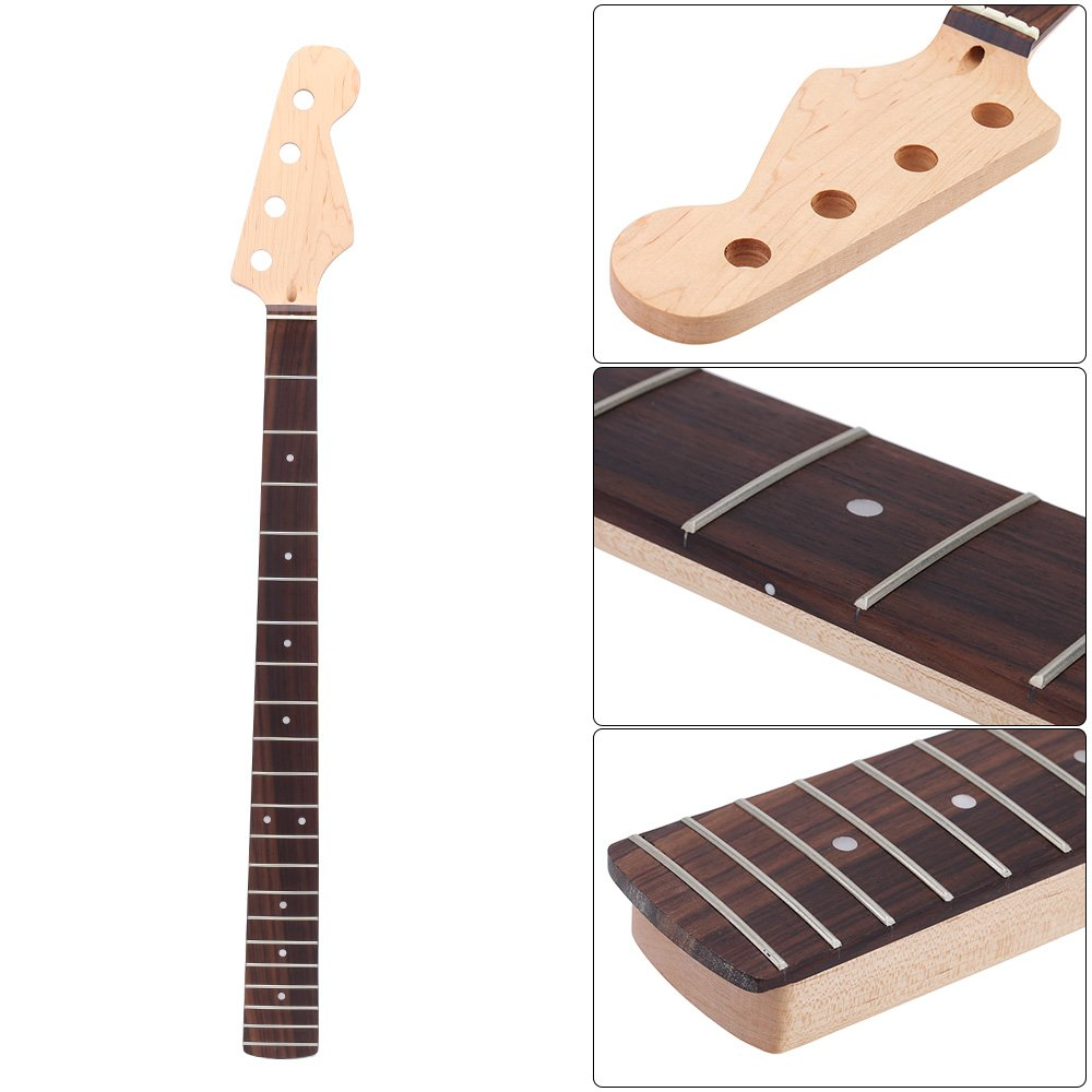 ammoon 21 Fret Bass Maple Neck Rosewood Fingerboard for Fender JAZZ Replacement by ammoon (Image #7)