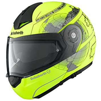 Schuberth C3 Pro Europe Amarillo Motocicleta Casco