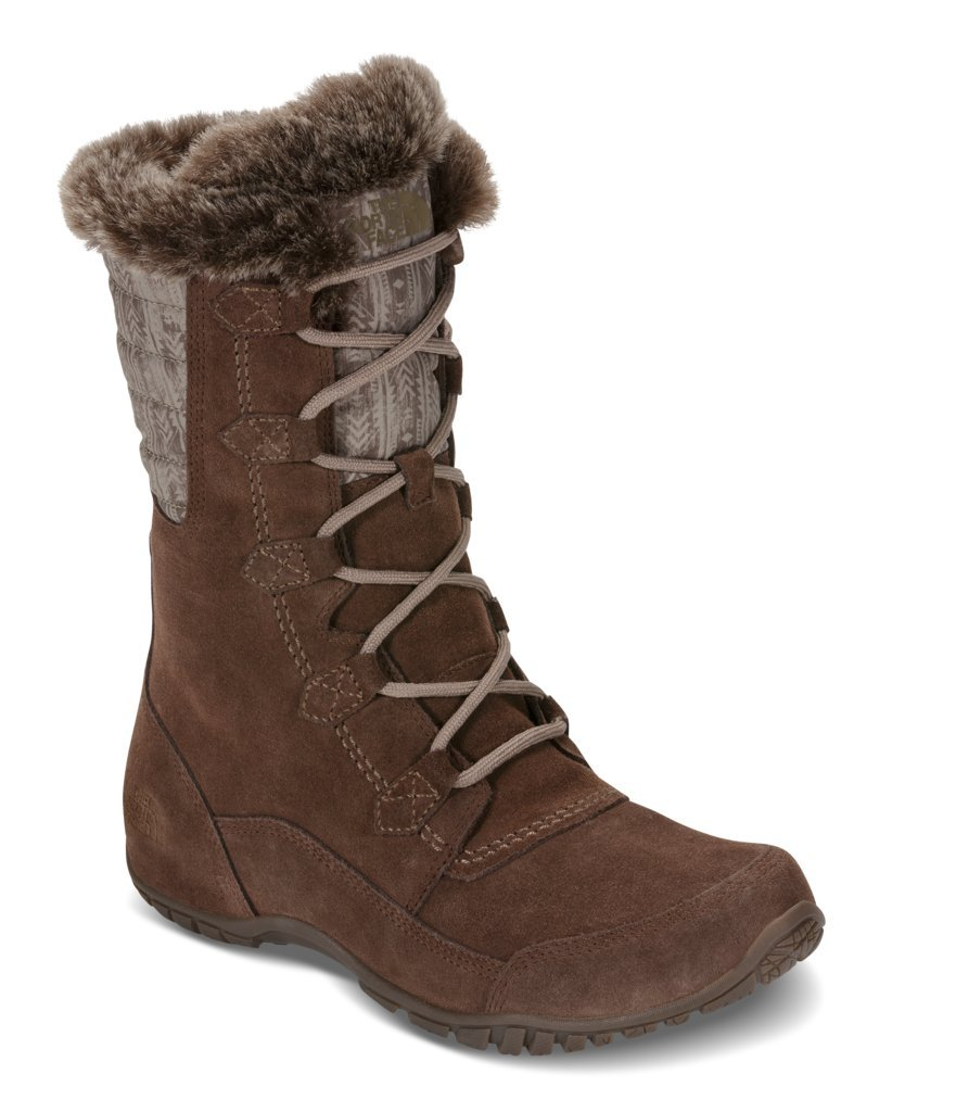 The North Face Women's Nuptse Purna II Boot - Carafe Brown & Taupe Grey - 8