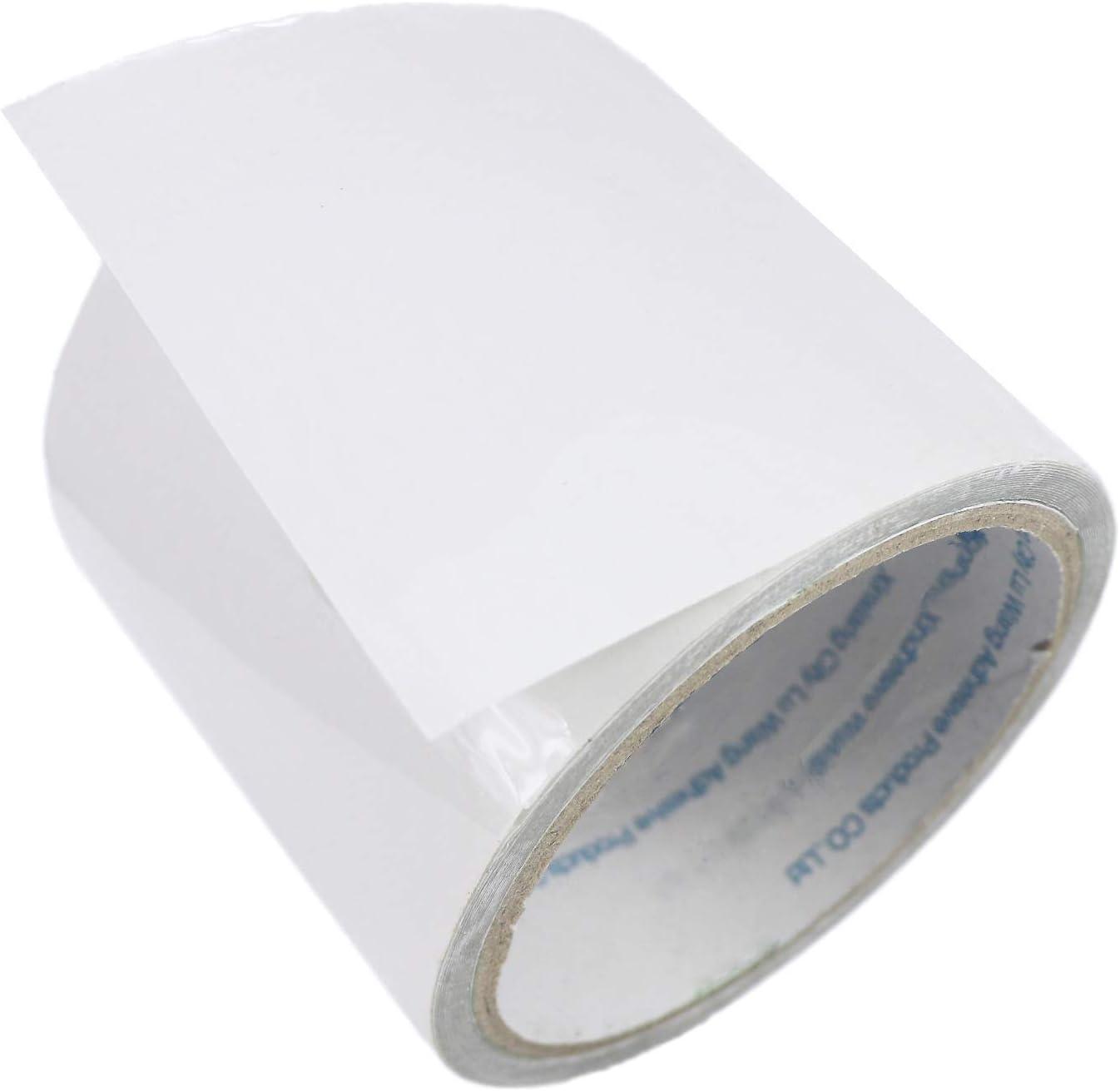 LANUCN Cinta de Reparación de Carpa Cinta Adhesiva Transparente Resistente de 5 m para Carpas/Toldos/Glorietas/Paños Recubiertos de PVC