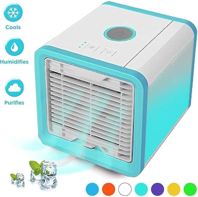 Mini Refroidisseur dair USB Rechargeable Ventilateur de Climatisation Silencieux Mobile Personnel Air Refroidisseur Humidificateur WERTAZ Climatiseur Portable