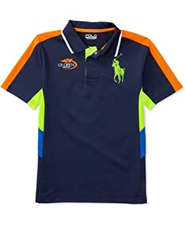 2691e5e4857 RALPH LAUREN Polo Mens US Open Tennis Custom Fit Big Pony Shirt Navy ...