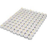 OSHINE 100unidades LED Velas Velas CR2032 pilas velas sin llama de iluminación eléctrica falso Vela para Hogar Navidad…