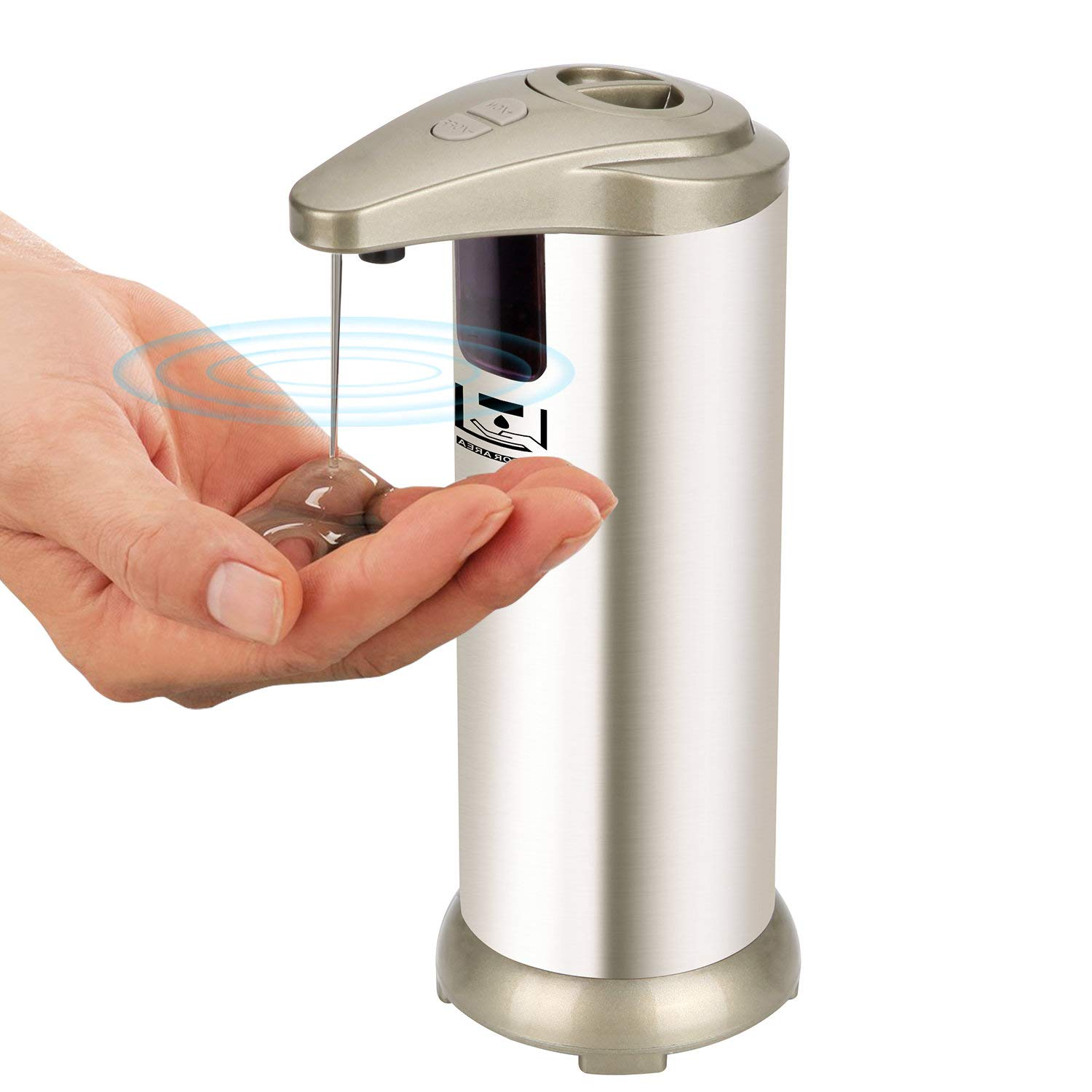 Automatic Soap Dispenser, UFire Mini Soap Dispenser with Stainless Steel Body and Waterproof Base Auto-soap Dispenser for Kitchen and Bathroom