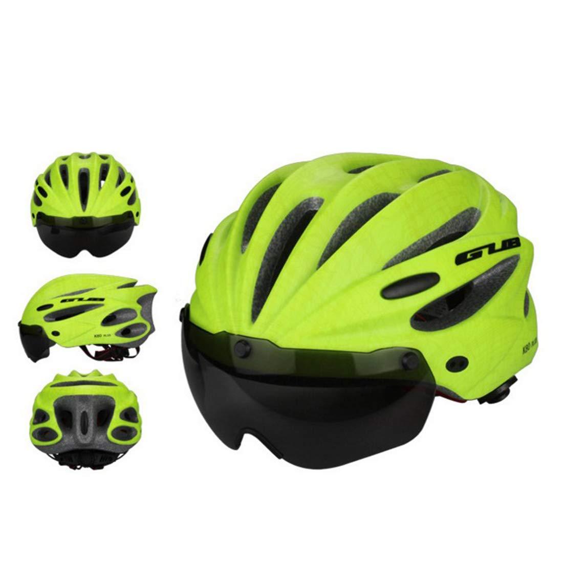 JESSIEKERVIN YY3 Fahrradhelm mit Brille integrierter Fahrradhelm magnetische Helmbrille für Outdoor-Radsportler