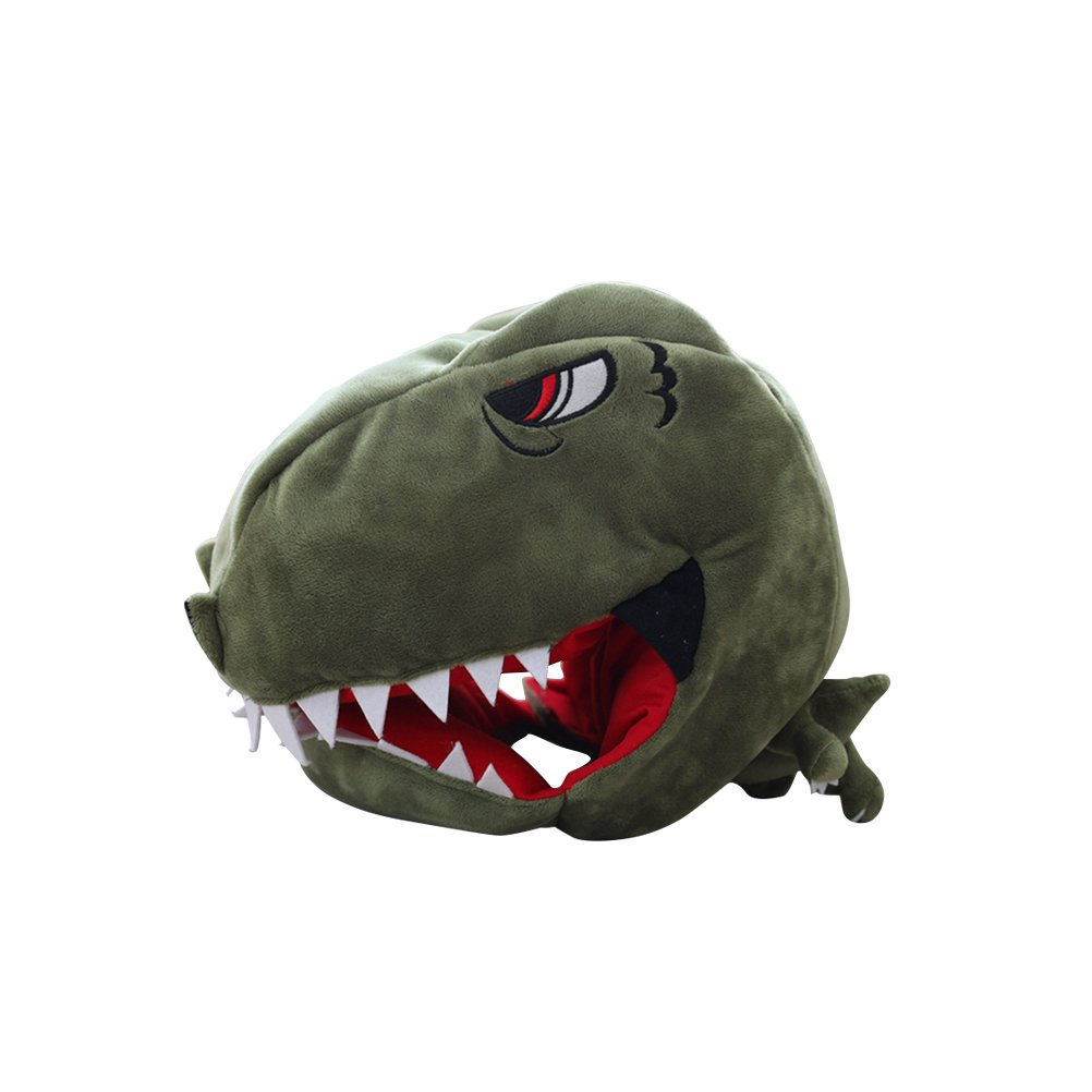 BESTOYARD Halloween Children Dinosaur Headwear Cartoon Animal Hat Costume Plush Toys Props for Party