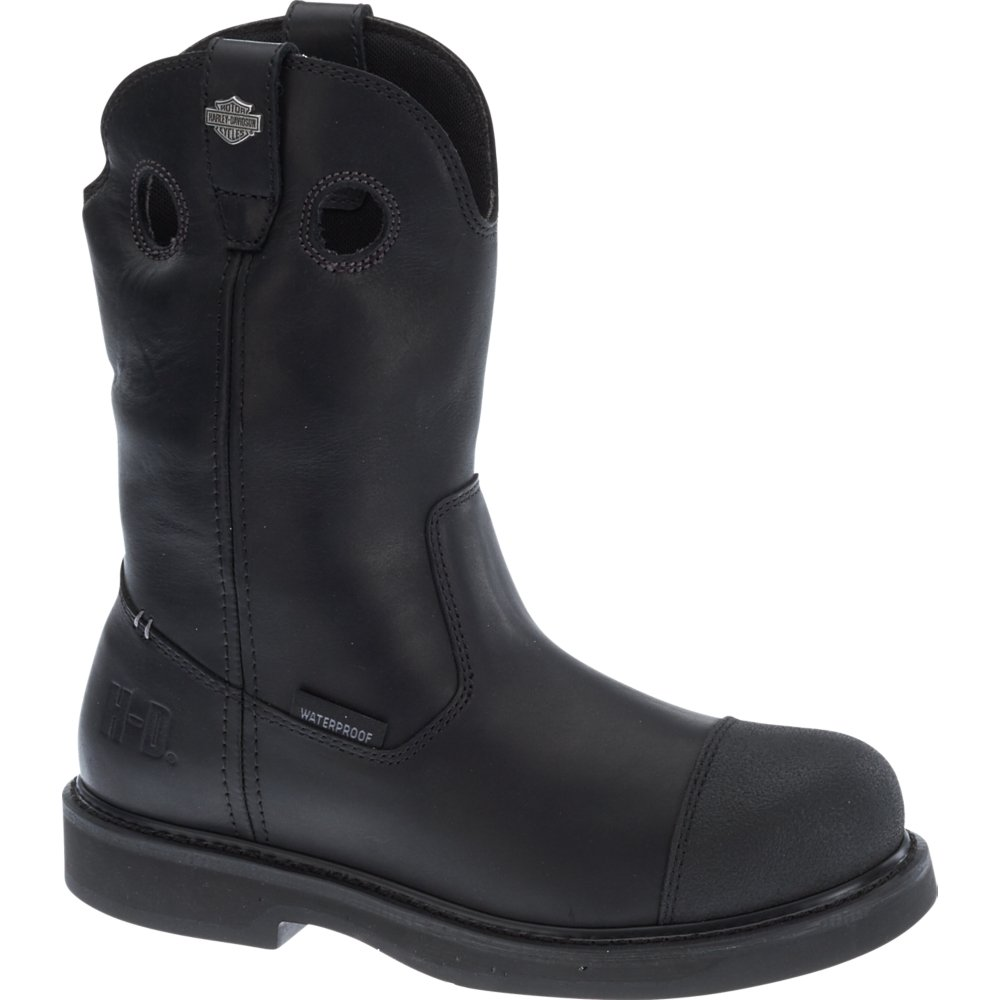 Harley-Davidson Men's Manton Waterproof Motorcycle Boots D93389 (Black, 13)