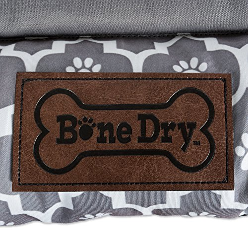 Bone Dry DII Small Rectangle Lattice Kennel & Crate Padded Pet Mat, 17x22 for Dogs or Cats-Gray by Bone Dry (Image #1)