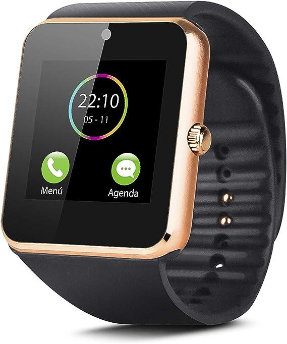 Smartek Smartwatch Reloj Inteligente con SIM, Pulsera de Actividad ...