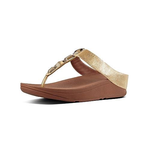 c072f0fbc99d3 fitflop Women s ROKA Toe-Thong Sandals-Leather Flip-Flop  Amazon.ca ...
