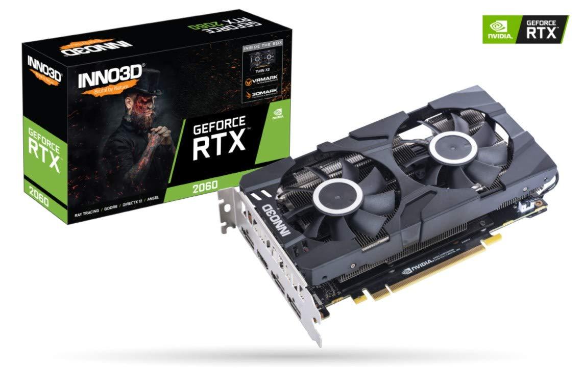 Inno3D N20602-06D6-1710VA23 - Tarjeta gráfica (GeForce RTX 2060, 6 ...