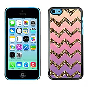 Impact Case Cover with Art Pattern Designs FOR iPhone 5Cs Gold Bling Pattern Stripe Betty shop