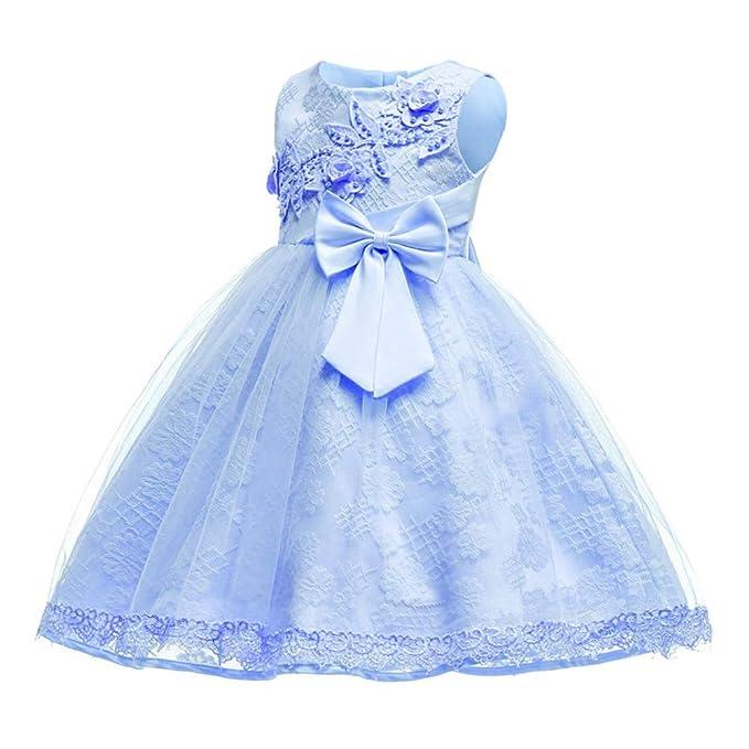 Girls Embroidered Flower Bowknot Baby Tulle Tutu Dress BOZEVON Princess Dress