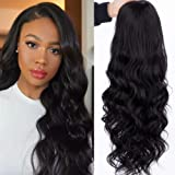 K'ryssma 13x4 Black Lace Front Wig Body Wave Long Wavy Synthetic Wigs 150% Density Natural Hairline Hair Replacement…