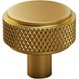 Satin Brass 14MM Knurled Brass Knob