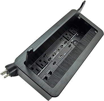 Caja de conectividad Multimedia para Mesa con Toma de Corriente ...