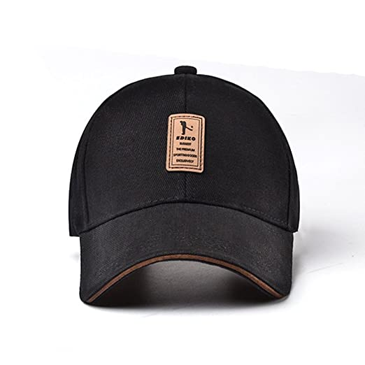 Baseball Hat Black Golf Hat Sun Protection Hat Outdoor Hat Riding Cap for  Men wome cd207f1e791