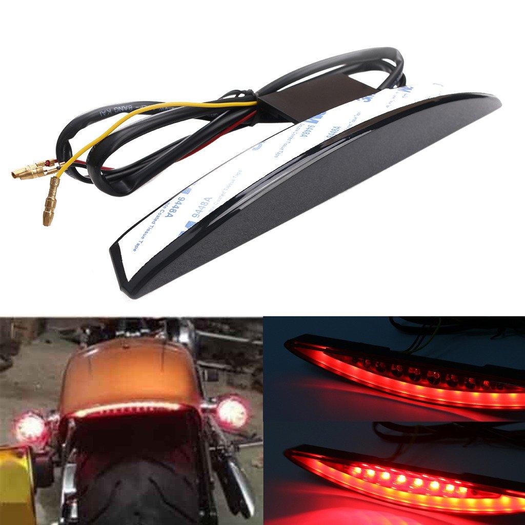 Black Lens Jade Rear Under Fender LED Brake Tail Light For Harley Breakout FXSB 2013-2017