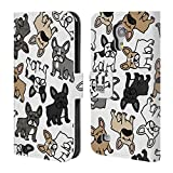 Head Case Designs French Bulldog Dog Breed Patterns Leather Book Wallet Case Cover For Samsung Galaxy S8