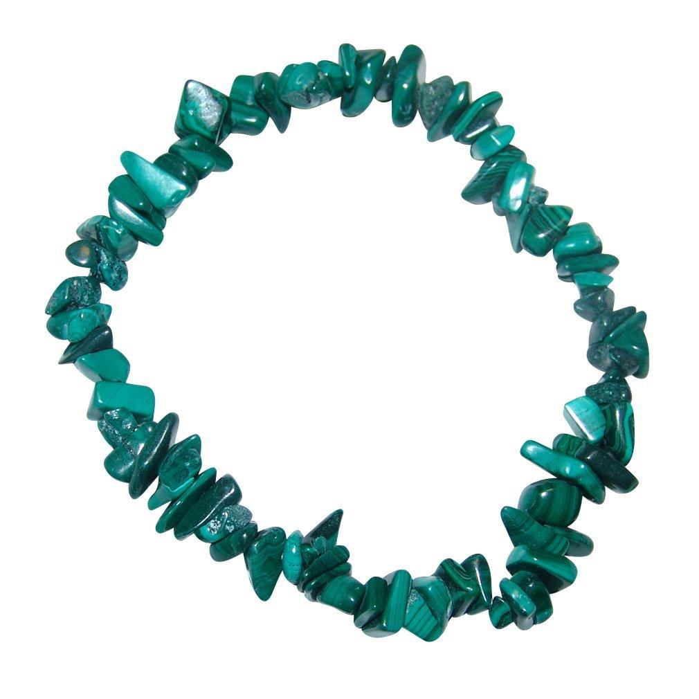 Malachit Splitter Armband auf elastischem Band aufgezogen.(3537) Janni-Shop® SC-SP-Malachit-20-3537