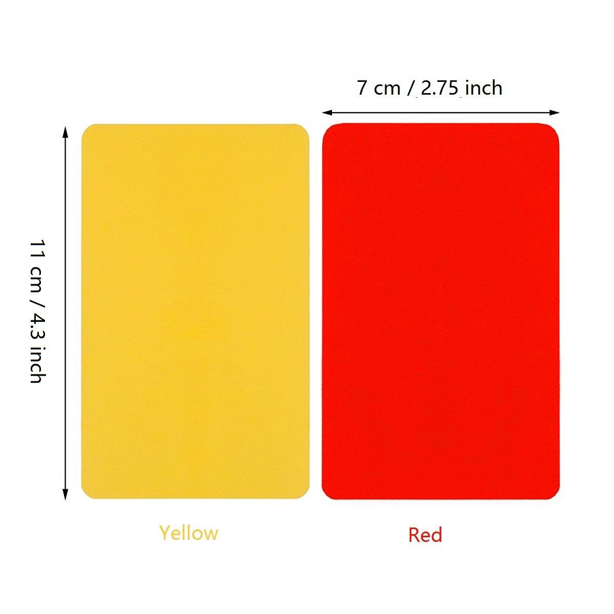 Giveet 2 metal silbato con deportes árbitro tarjeta tarjeta de juego, rojo amarillo y metal de acero inoxidable Entrenador Silbato para fútbol