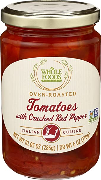 Whole Foods Market Oven-Roasted Tomatoes with Crushed Red Pepper, 10.05 oz