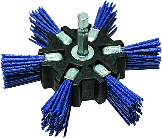 150 Grit Century Drill and Tool 77343 Fine Nylon Flap Brush 4-Inch