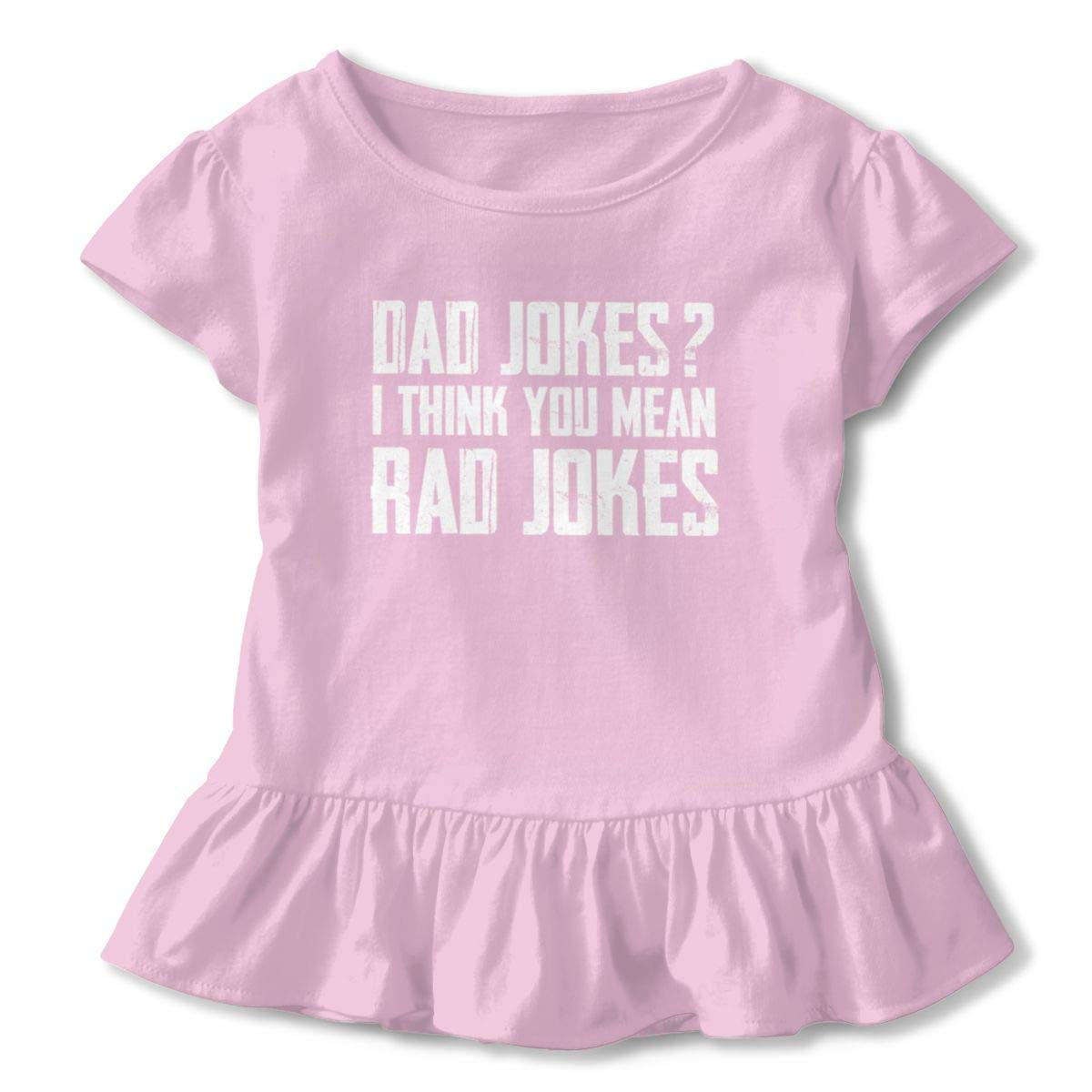 Not Available If You Think Im Cute You Should See My Daddy Shirt Baby Girls Ruffles Cute Shirt Dress for 2-6 Years Old Baby