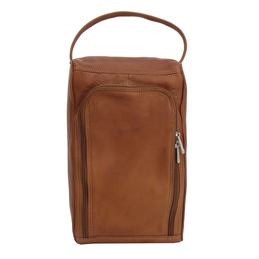 Piel Leather U-Zip Shoe Bag, Saddle, One Size by Piel Leather