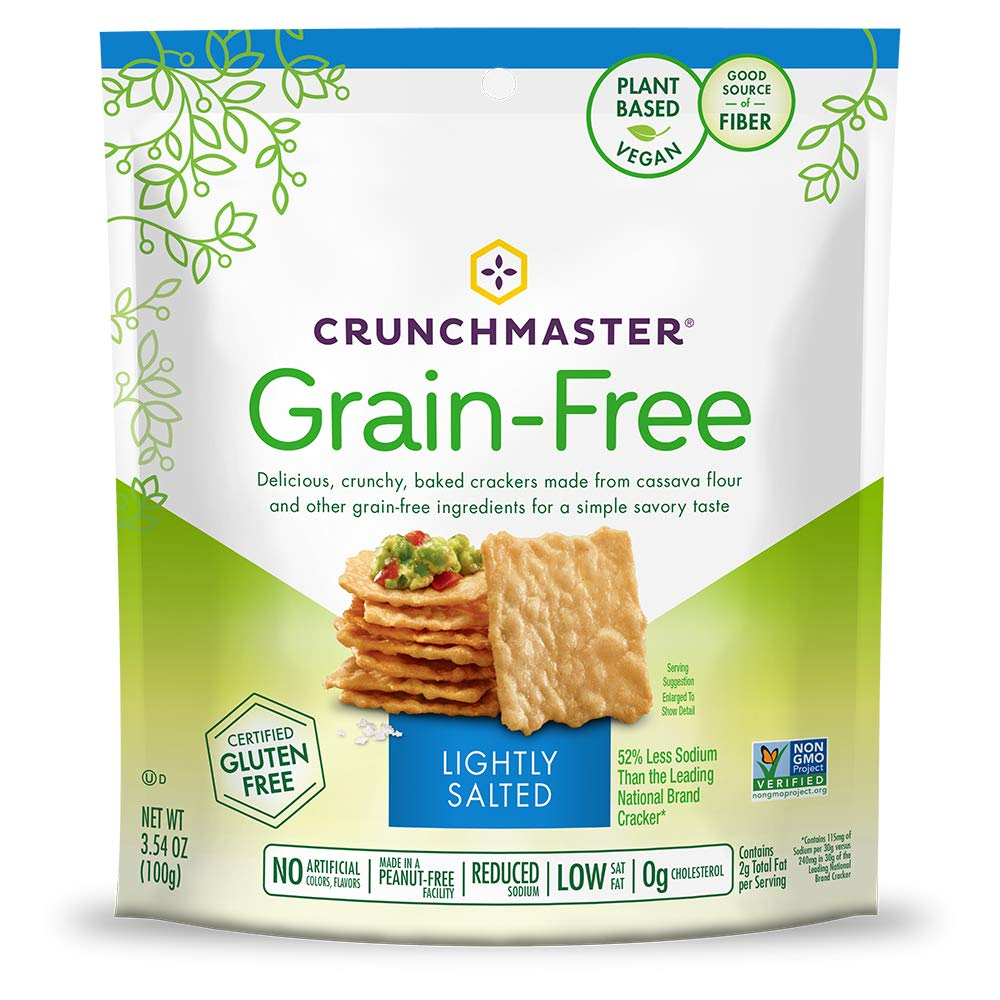 Crunchmaster Grain-Free Crackers, Gluten Free, Non GMO – Lightly Salted, 3.54 Ounce (Pack of 1)