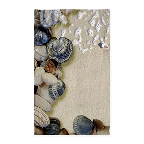 CafePress Summer Ocean Beach Seashells Decorative Area Rug, Fabric Throw Rug