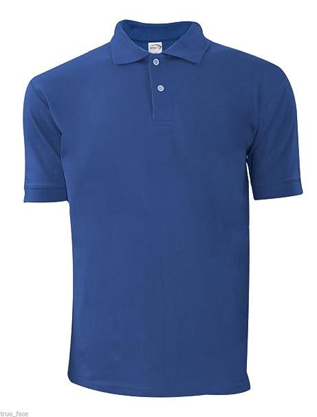 ROLY - Polo - para Hombre Azul Azul Real Medium: Amazon.es: Ropa y ...