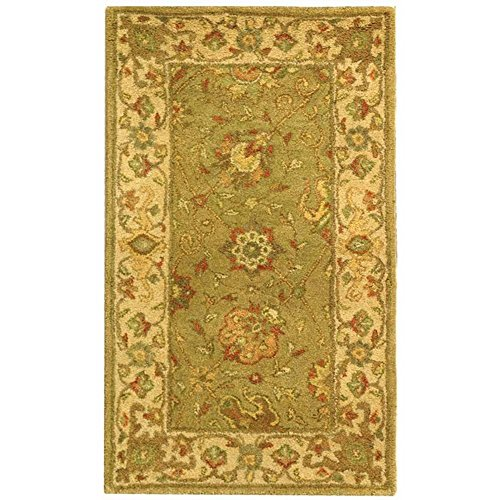 Traditional Hand Tufted Sage (Safavieh Antiquities Collection AT21D Handmade Traditional Oriental Sage Wool Area Rug (2'3