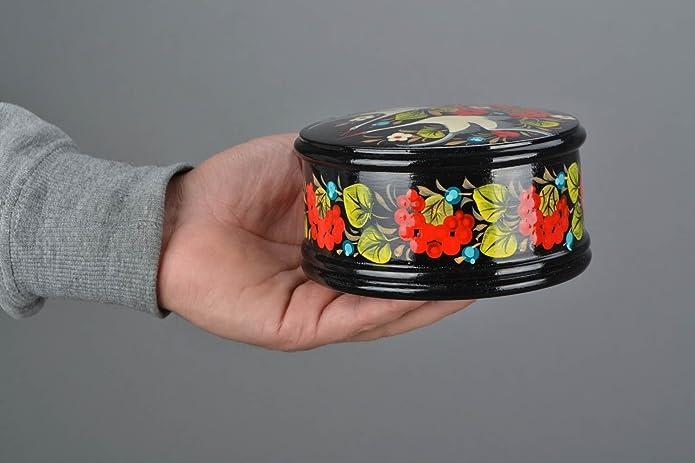 Amazon.com: Homemade Caja con Petrikov Pintura: Jewelry