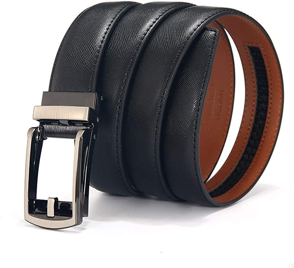 Waist 38 ~ 40 2 Pack 2 Color Martino Mens Belt Luxxx Buckle Adjustable Belt Black and Brown Fashion Designer Leather Belt Automatic Buckle
