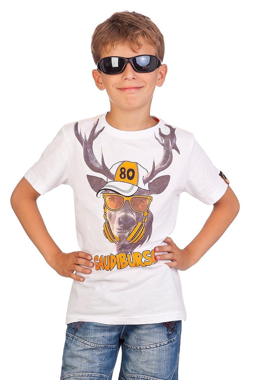 Trachten Kinder Fun Shirt - GAUDIBURSCH - weiß