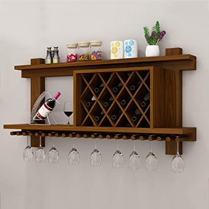 Amazoncom Mkkm Wine Racks Wine Shelf Wall Mounted Wood Mdf Cabinet