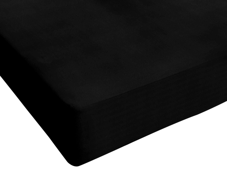 90 x 200 cm Bordeaux 100/% Cotone Italian Bed Linen Max Color Lenzuolo sotto Singolo