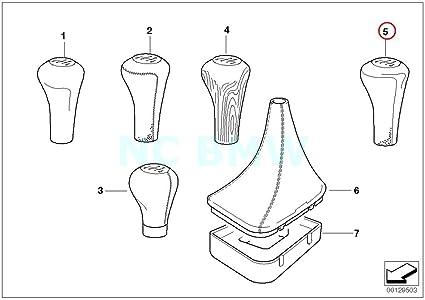 Amazon Com Bmw Genuine Leatherm Plaque5 Speed Gearshift Knob
