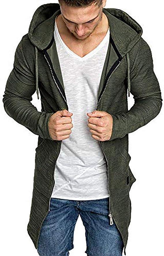 Herren Strickjacke Cardigan Winter Kapuze Jacken Gestrickt Sweatshirt Pulli Hood