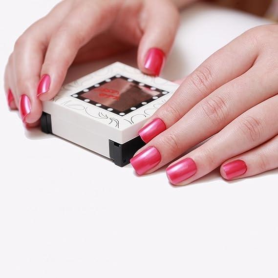 Uñas Postizas Manicura Francesa Puntas Medianas Las Rosas son Rojas Cobertura Total de Bling Art, RU: Amazon.es: Belleza